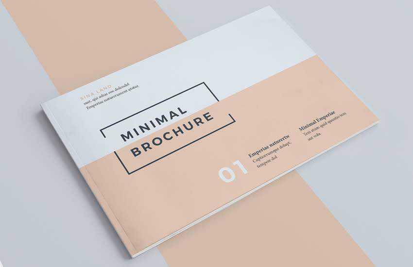 Minimal brochure business template format