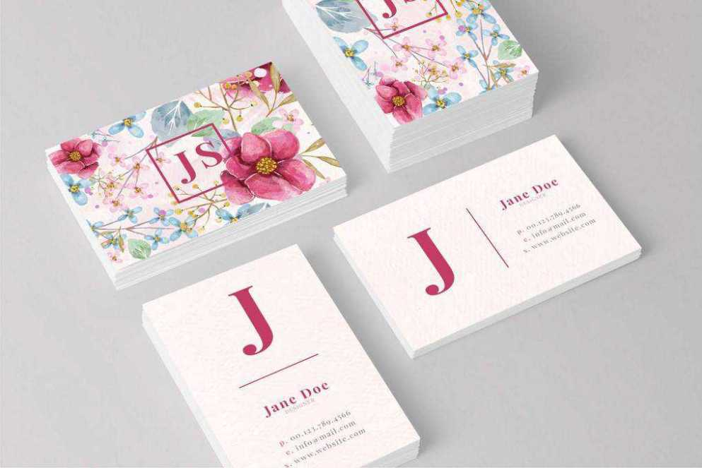 Business Card template format Adobe Photoshop