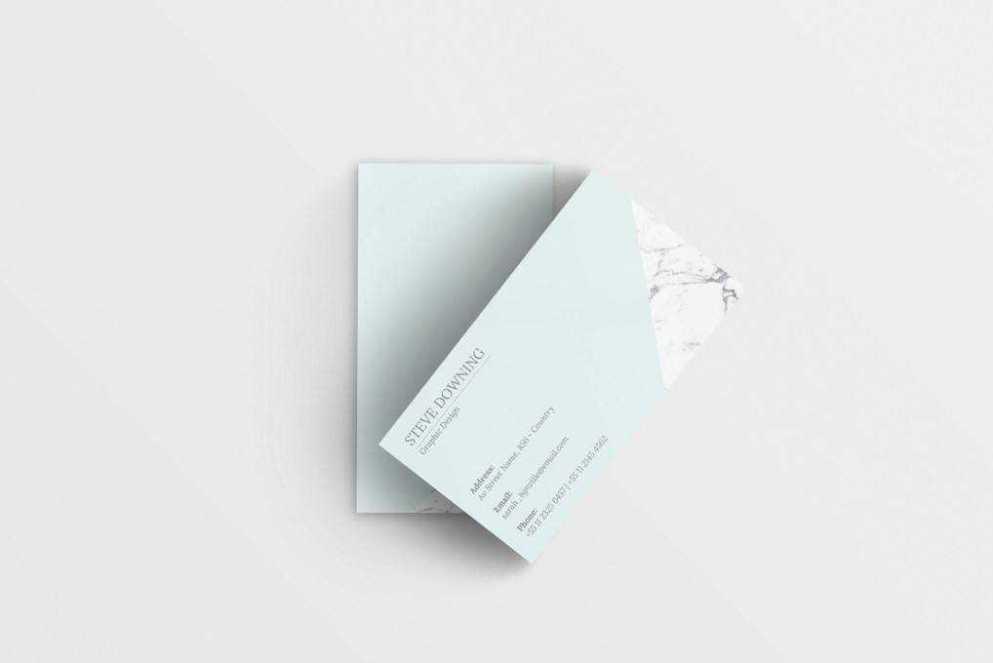 Minimalist business card template format Adobe Photoshop