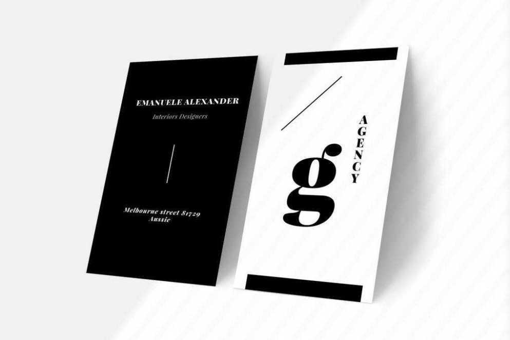 agency business card template format Adobe illustrator
