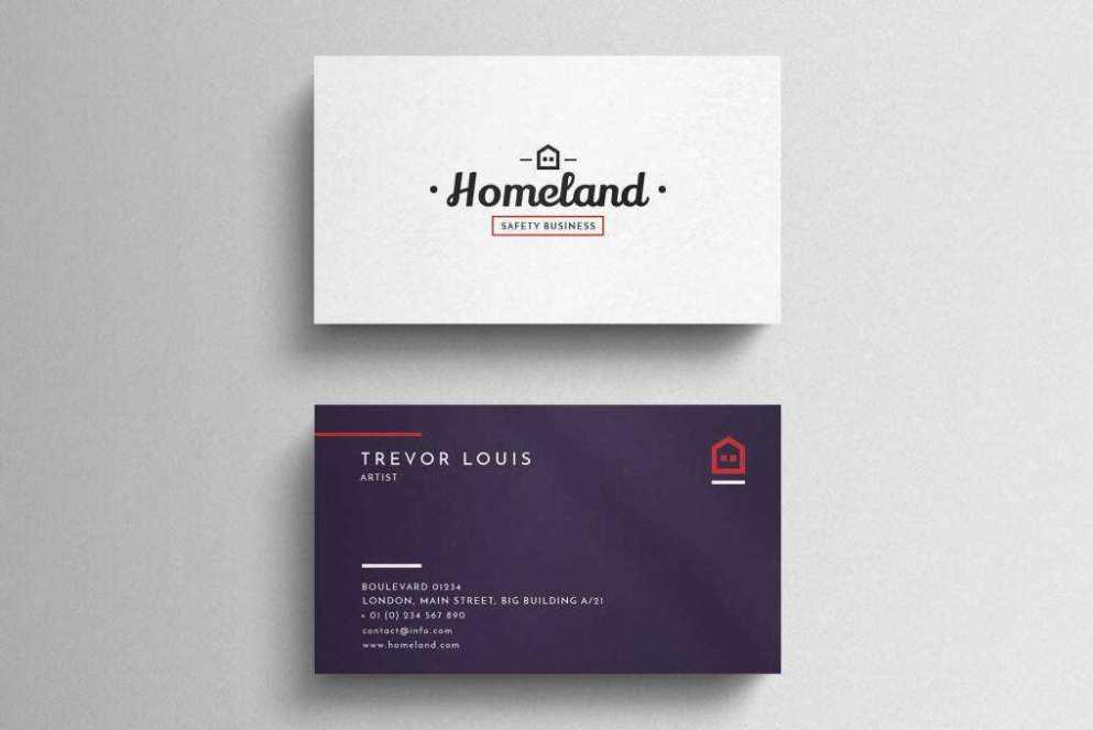 minimal business card template format Adobe Photoshop
