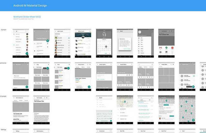Material Design Wireframe Kit sketch mobile app ui kit sketch ux format free design creative sketch.app