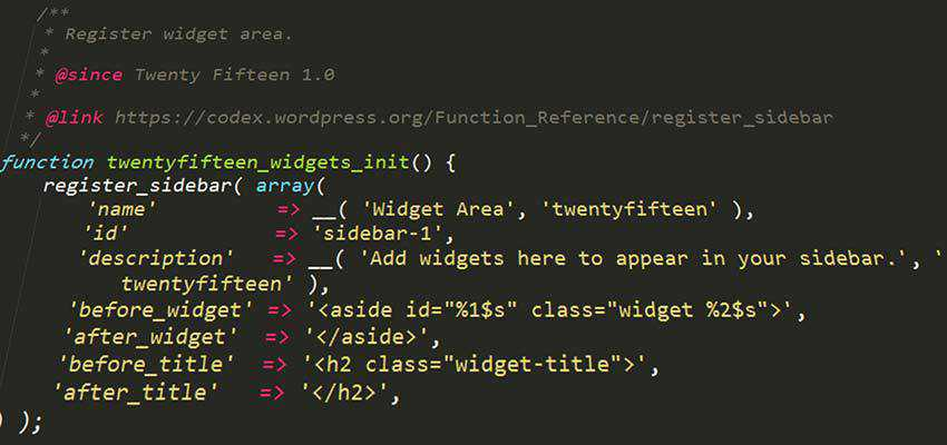 PHP Code in a WordPress theme.