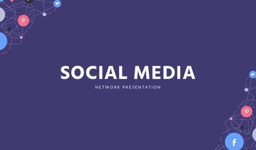 Social Media google slides theme presentation template free