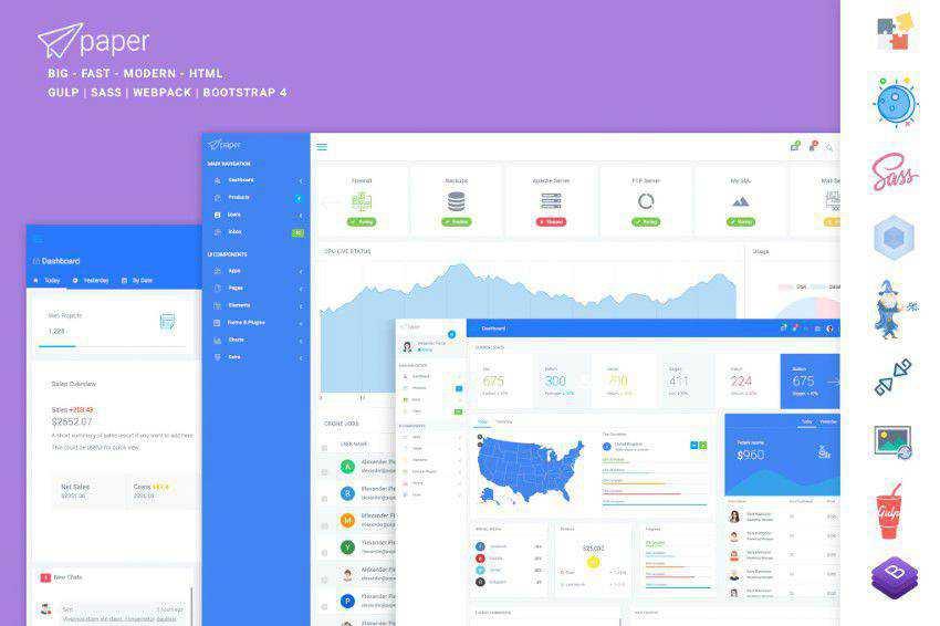 Kertas Panel Bootstrap Admin