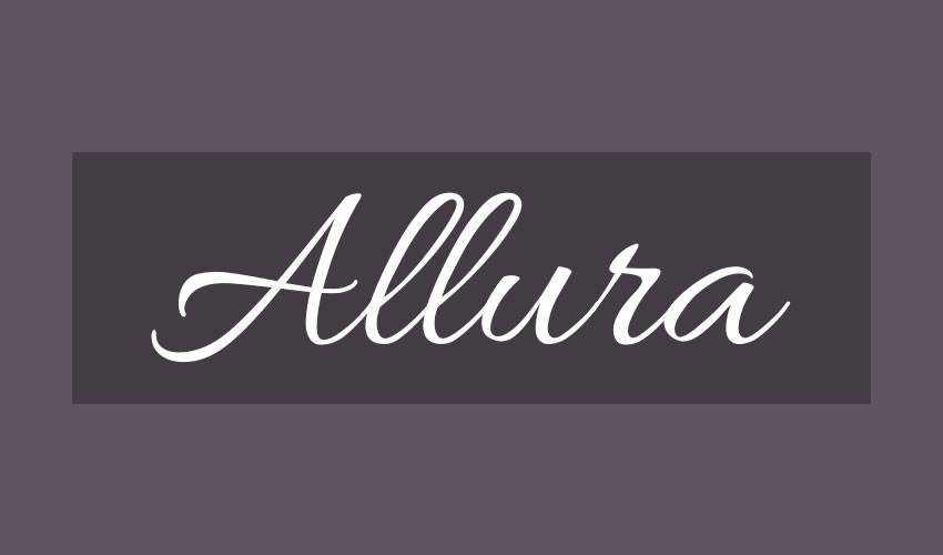 free font calligraphy typography script Allura