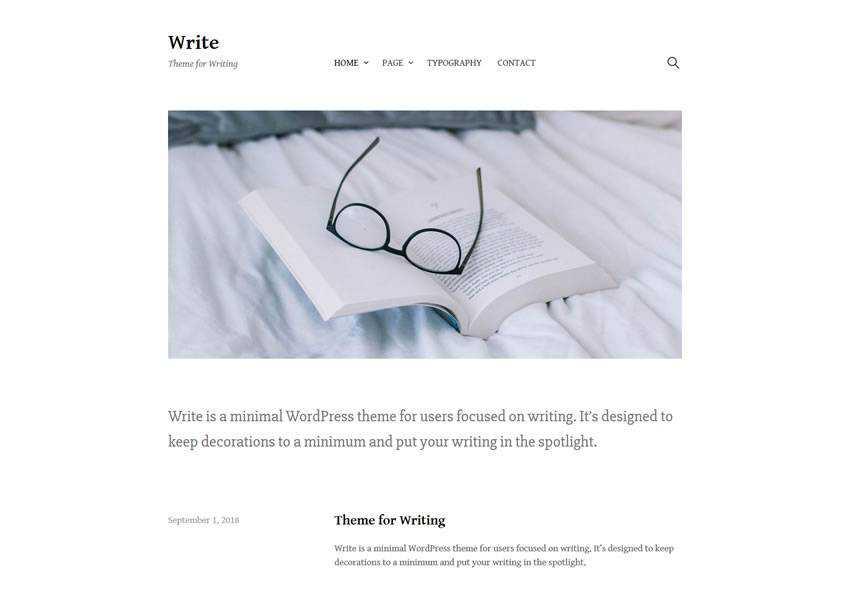 Write free wordpress theme wp responsive template blog writer longform article