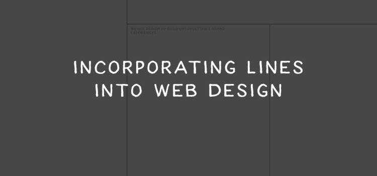 12 Fantastic Examples of Incorporating Lines in Web Design