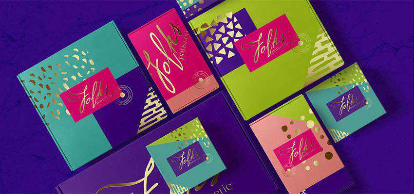 Identity and packaging design for Folks patisserie