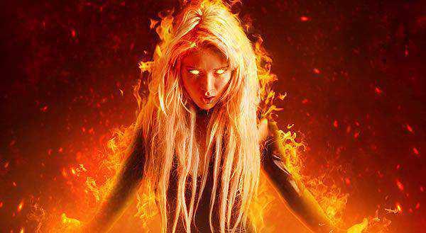 A Fantasy Fiery Portrait Photo-Manipulation