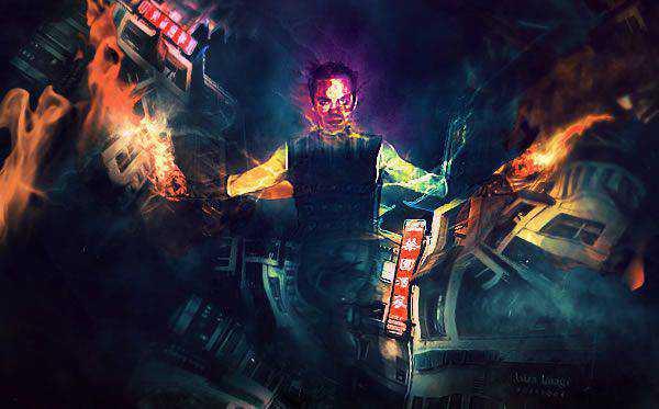 Create Unleash the Dark Power Surreal Scene in Photoshop