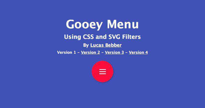 The Gooey Effect SVG Filter Tutorial