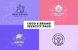 12 free vintage logo