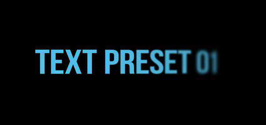10 More Simple After Effects Text Presets