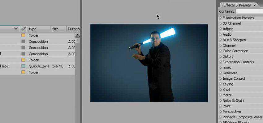Light Saber Preset with Motion Blur Preset