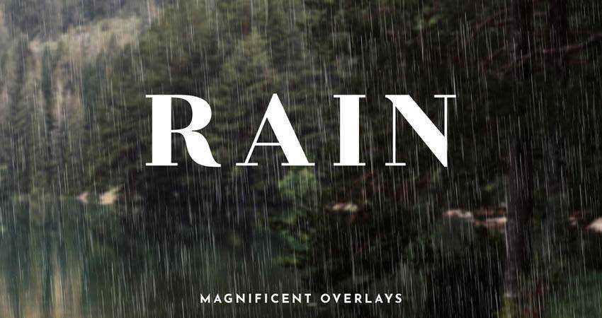 Rain Effect Overlays Photography Effects