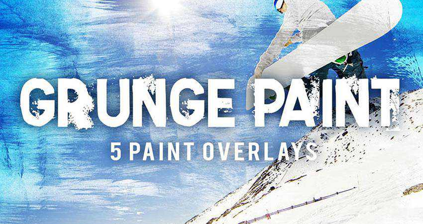Grunge Paint Texture Overlays Photography Effects