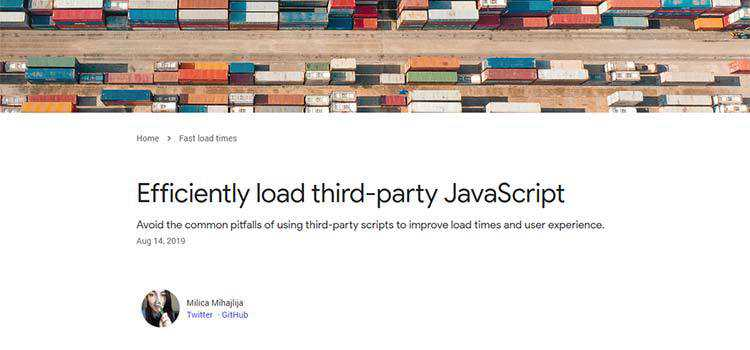 Efficiently load third-party JavaScript