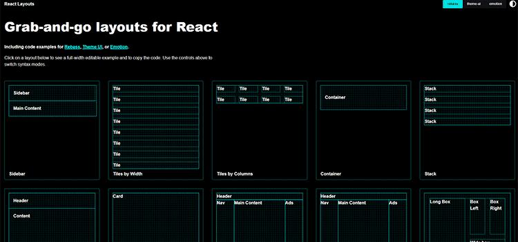 React Layouts