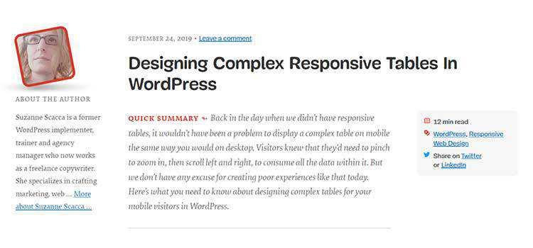 Designing Complex Responsive Tables In WordPress