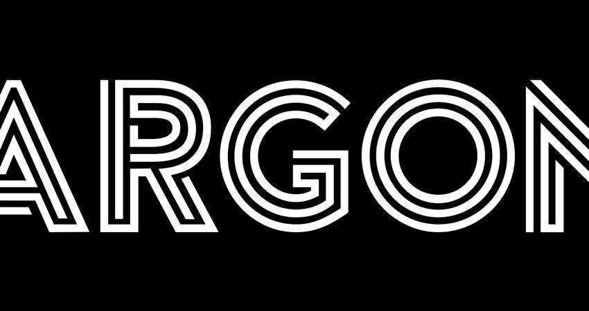 Argon - free outline font family