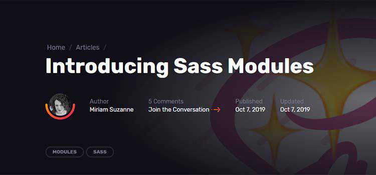Introducing Sass Modules