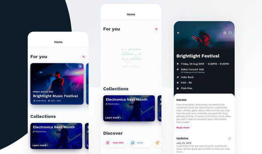 Ticketapp Figma Template free figma ui mobile kit