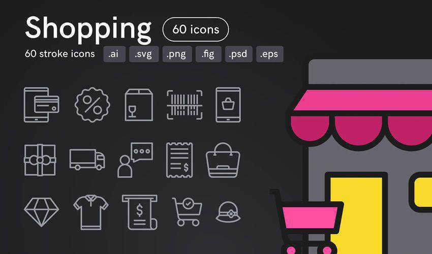 Shopping Icons free figma ui icon set