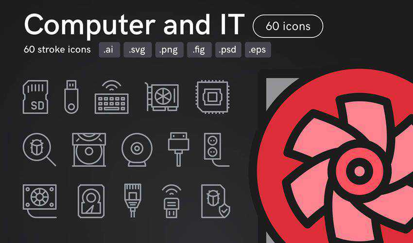Computer and IT figma ui icon set