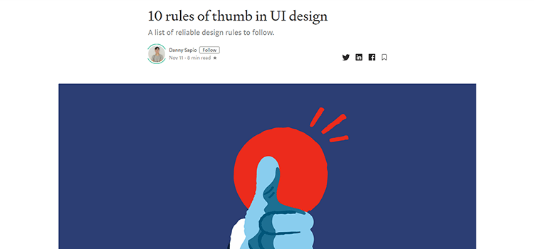 Example from 10 rules of thumb in UI design