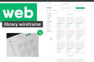 Web Library Wireframe