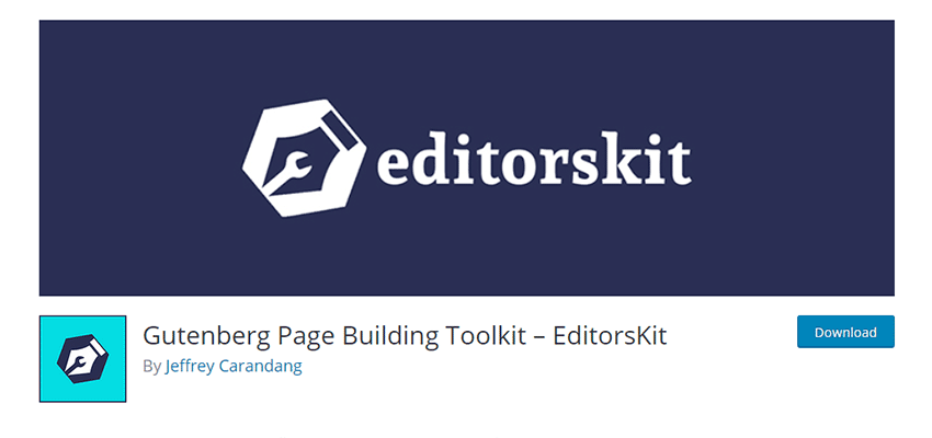 Banner for Gutenberg Page Building Toolkit – EditorsKit
