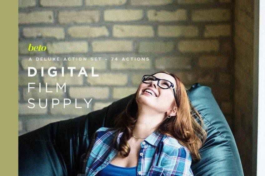 Digital Film Supply Photoshop Action Bundle