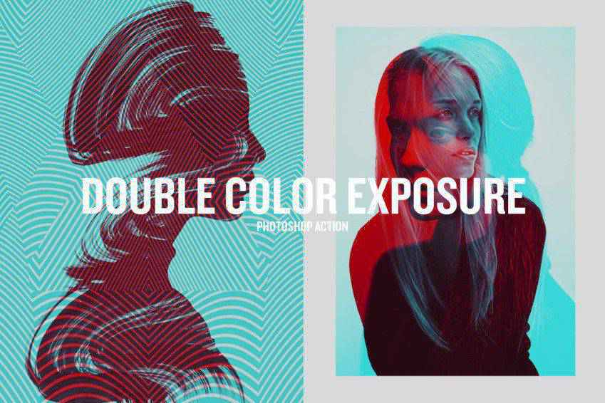Double Color Exposure Photoshop Actions