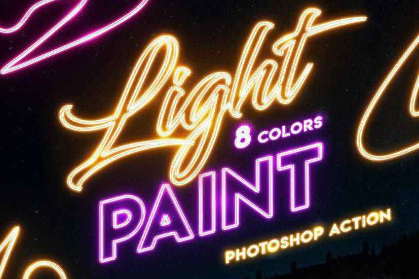 Light Painting Photoshop Actions