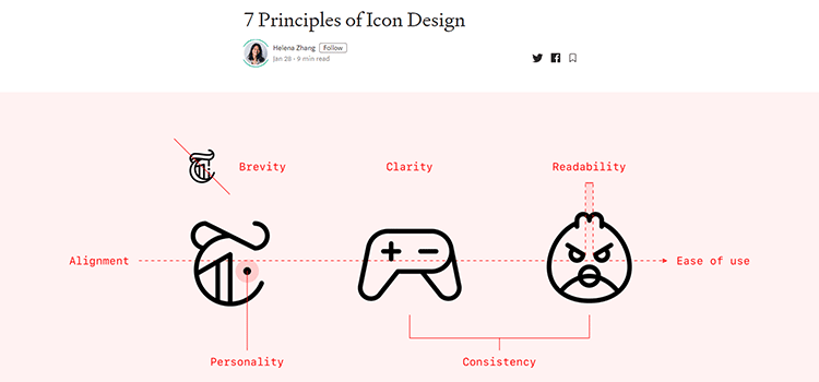 Example from 7 Principles of Icon Design