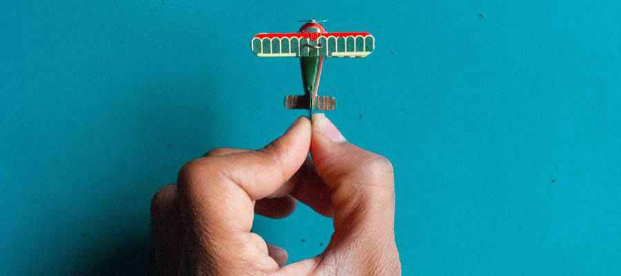 A small toy airplane.