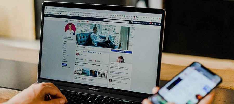 A social media profile screen.
