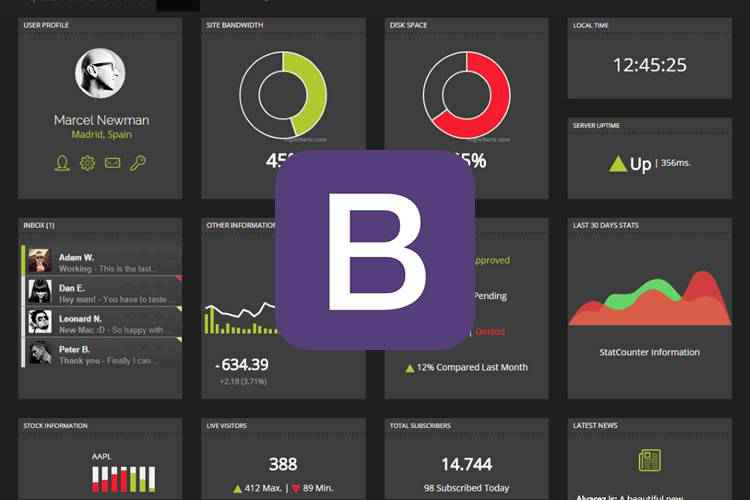 Example from 20 Free Bootstrap Admin & Dashboard Templates