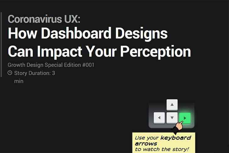 Example from Coronavirus UX: How Dashboard Designs Can Impact Your Perception