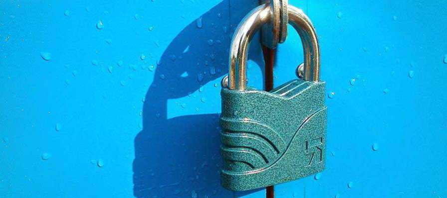 A padlock.