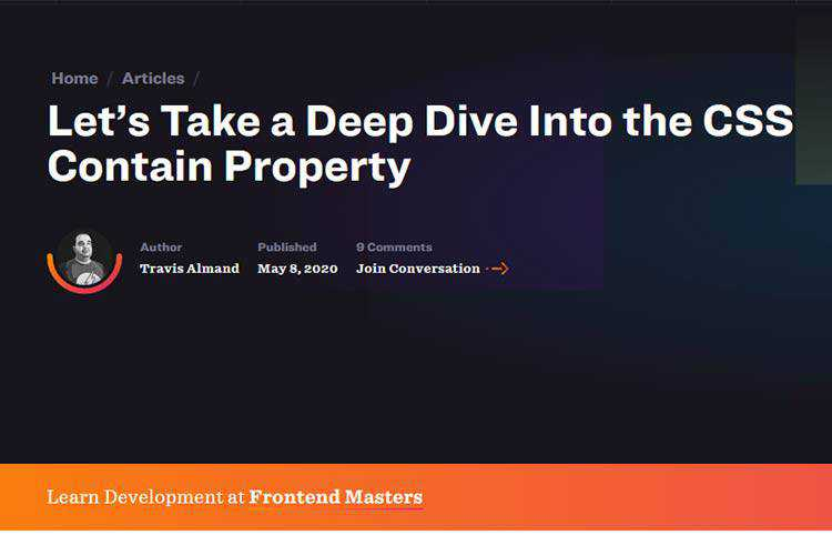 Example from Let's Take a Deep Dive Into the CSS Contain Property