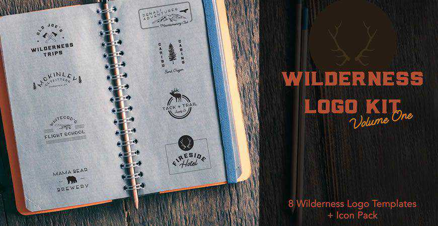 Wilderness logo creator kit template