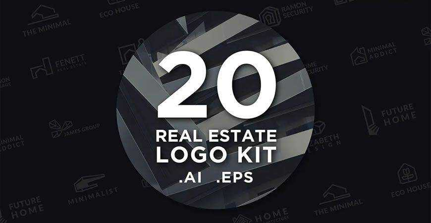 Real Estate logo creator kit template