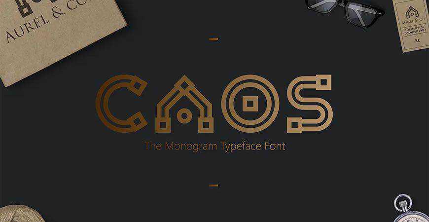 CAOS Monogram logo font typeface logotype