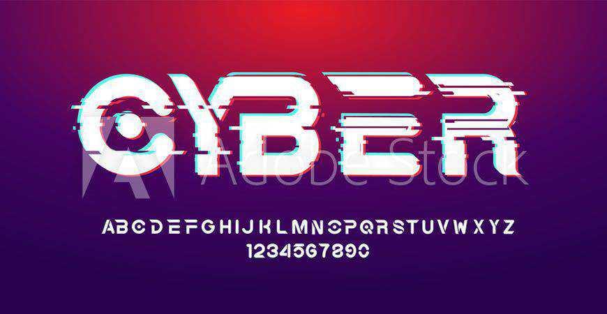 Cber Futuristic Bold logo font typeface logotype