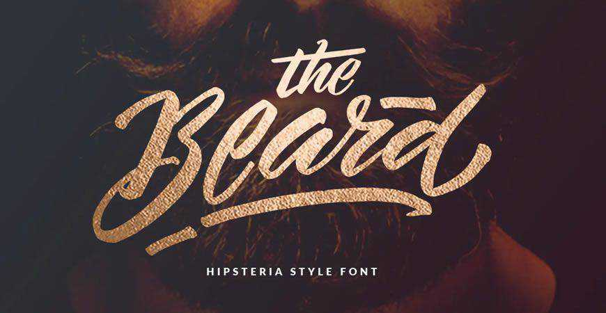 The Beard Branded logo font typeface logotype