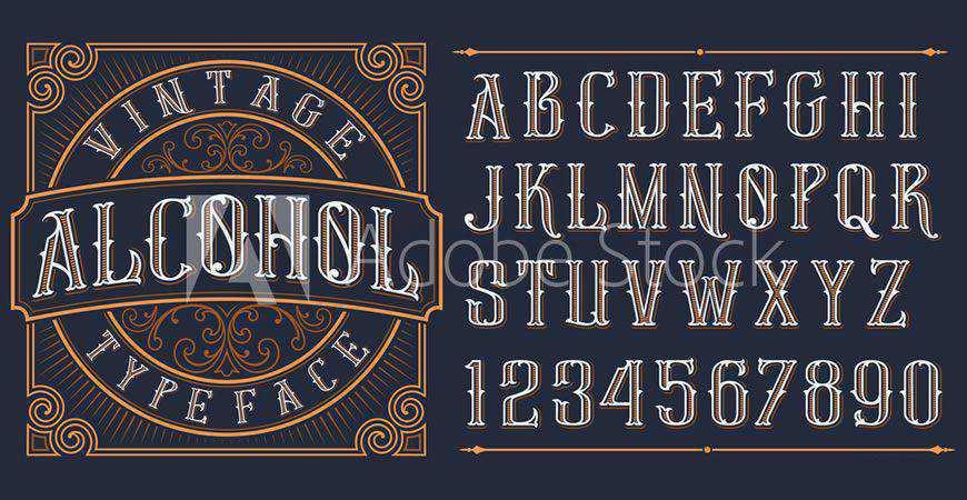 Vintage Decorative logo font typeface logotype