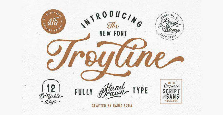 Troyline Duo logo font typeface logotype
