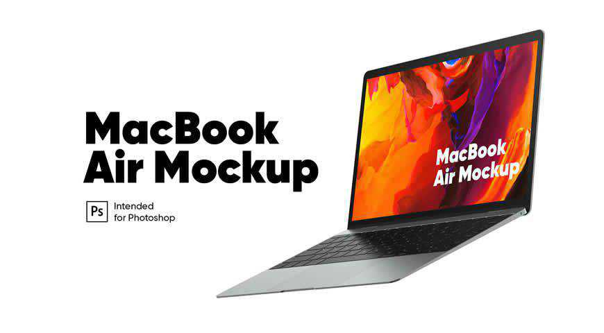 MacBook Air Photoshop PSD Mockup Template